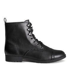 LACE UP BOOTS | H&M | BLACK