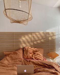 trendy white and light wood bedroom bed frames Burnt Orange Bedroom, Orange Bedroom Decor, Bedroom Yellow, Orange Bedding, Burnt Orange Comforter, Burnt Orange Living Room, Orange Bedrooms, Burnt Orange Decor, Light Orange