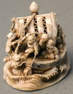 Netsuke of the Seven Lucky Gods, Japan. S)