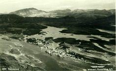 Nordland fylke Brønnøy kommune Brønnøysund flyfoto 1950-tallet Utg Widerøe