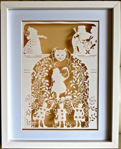 This is the 4th papercut I have done in the Alice in Wonderland series. Template from Bramble Crafts