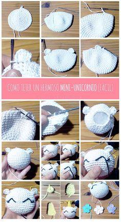 patron gratuito unicornio amigurumi crochet fototutorial