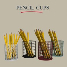 Leo Sims - Pencil cups for The Sims 4