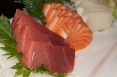 White Tuna, Tuna and Salmon Sashimi