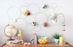 A Kailo Chic Life: DIY It - Brass Macrame Hoop Wall Art