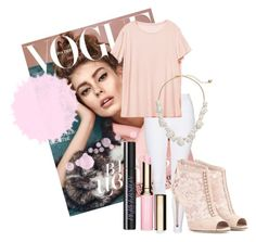 """""""pink"""" by soccer1938 ❤ liked on Polyvore featuring Topshop, Pantone, Dolce&Gabbana, Clarins, Urban Decay, Kate Spade, women's clothing, women's fashion, women and female"""