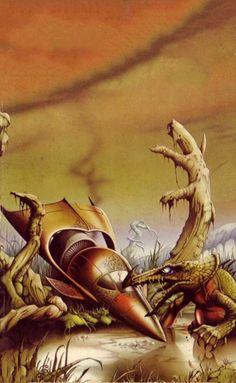 Rodney Matthews - Web of the Witch World, 1978.