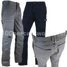 Delta Plus MOPAN Mens Cargo Combat Work Trousers Cotton Rich Knee Pad Pockets | eBay