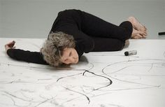 Laurie Anderson, Trisha Brown, Gordon Matta-Clark – Pioneers of the Downtown Scene, NY – – Barbican Contemporary Dance, Modern Dance, Arabesque, Gordon Matta Clark, Art Du Cirque, Laurie Anderson, Tracing Art, Mickey Mouse Art, Preschool Art Activities