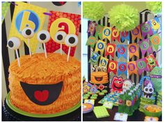 Monster Party!  So cute....I think I just found the theme for Landon's next bday!