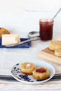One of my favorites, English crumpets.
