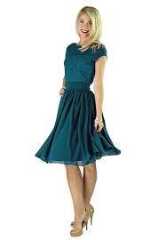 Resultado de imagen para vestido azul corto formal