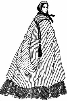 A Burnous was a long hooded cloak or mantle worn by both men and women. The term comes from a similar garment that was worn by the Arabs.