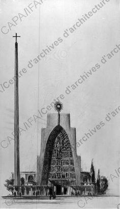 Archiwebture — 1935-1955. Documentation annexe. Eglise Sainte-Thérèse-de-l'Enfant-Jésus, Metz