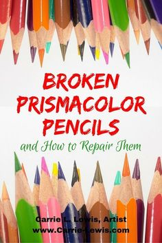 pencil art Broken Prismacolor pencils have you frustrated You dont have to throw them away!Carrie L. Lewis shares tips for repairing your broken pencils. Pencil Painting, Color Pencil Art, Watercolor Pencils, Encaustic Painting, Watercolors, Pencil Drawing Tutorials, Art Tutorials, Pencil Drawings, Horse Drawings