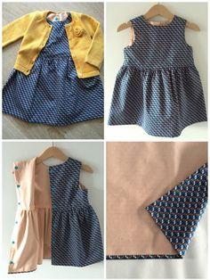 De welbekende Grace-jurk van Emma en Mona (gratis patroon kan je vinden op de blog van Emma en Mona, klik hier) Ik maakte de jurk voor de eerste keer, mijn nichtje werd 1 jaar, een meisje en een jurk,