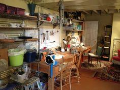 A lampworker's studio