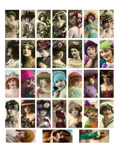 Free printable domino collage sheets freebies vintage photos