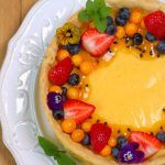 Visit the post for more. Lemon Custard Tart, South African Desserts, Fruit Salad, Birthday Cake, Cooking Recipes, Pudding, Tasty, Food, Nice