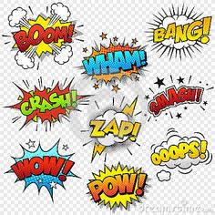 Comic Sound Effects by Fourleaflover, via Dreamstime
