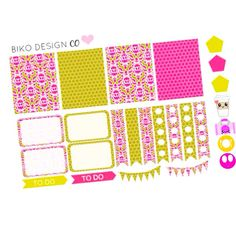 Pink and gold sampler planner set ,perfect for eri condren