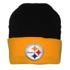 Adult NFL Pittsburgh Steelers Warm Ski & Skate Roll Up Beanie / Winter Hat - One Size Fits All - Black & Yellow by NFL. $12.99. Save 48%!