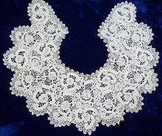 Beautiful c1900 Large Antique Irish Lace Collar Victorian Splendor |  Vintageblessings