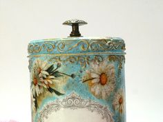 Kitchen Canister HAND PAINTED Kitchen by InspirellaDesign on Etsy