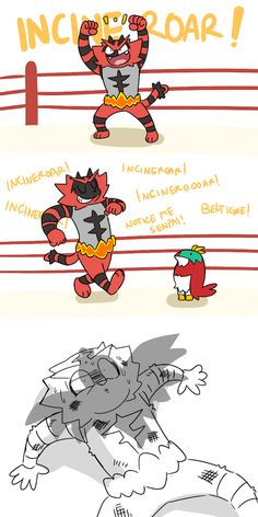 Hawlucha is captain falcon and Incineroar is John Cena Who would actually win in that fight