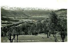 Hordaland fylke Voss kommune oversikt mot Vangsvatn og Gråsida Utg Normann 1940-tallet