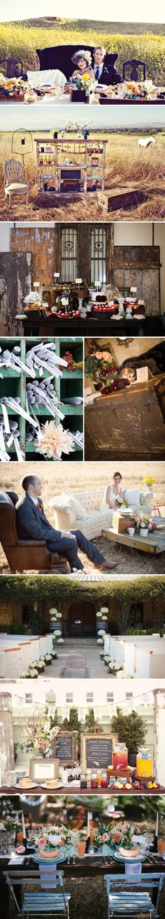 This seemed like a bunch of pictures of everything you would want...and look at the sweet double chair for the bride and groom!!!