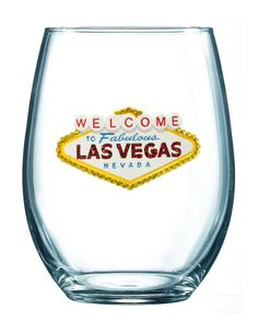 Queens' Jewels Welcome to Las Vegas Stemless Wine Glass by Cork Pops