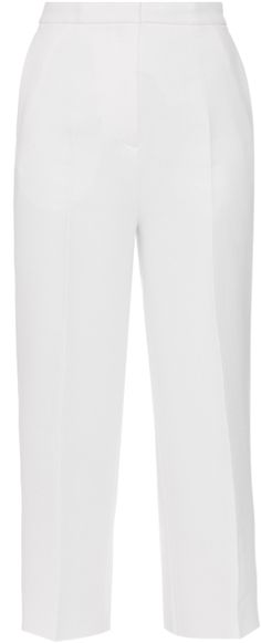 ROCHAS Wide-leg cropped crepe trousers
