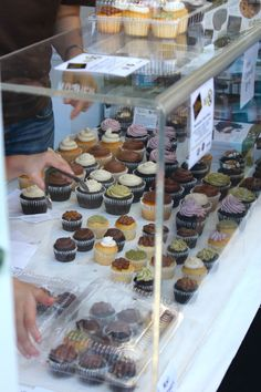 The Sweets From The Earth booth at the Toronto Vegetarian Food Festival. All vegan cupcakes! Yum! :) The chocolate lavender was amazing!