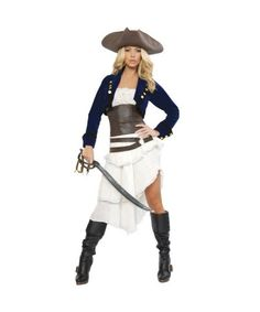 For my Pirate Party! Costume Box - Colonial Pirate Deluxe Womens Costume | ADULTS