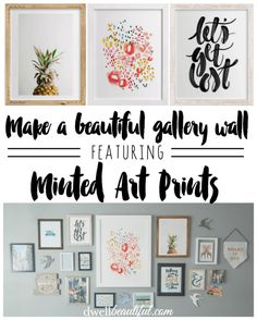 Create a beautiful gallery wall in any room in your home using Minted ar prints! Perfect design and decor for a nursery, bedroom, living room, and more!