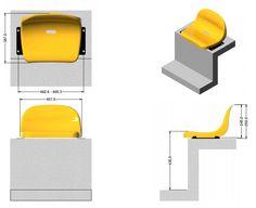 Butaca confort. Línea ideal para estadios, arenas y gimnasios, cómoda y durable! #Mober