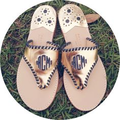Our monogram Palm Beach sandals are a must have this summer! Now available at sweetbluegifts.com!