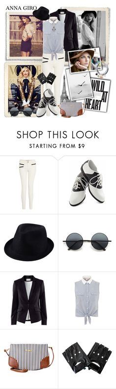 Wild At Heart - Casual Spring Look by annagiro on Polyvore featuring moda, Cameo Rose, H&M, J Brand, Pinup Couture, Pull&Bear, Uniqlo, Retrò, Juicy Couture and Yves Saint Laurent