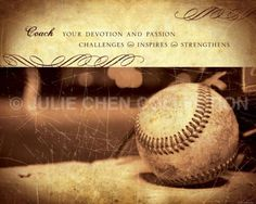BASEBALL COACH Gift  Baseball Art  Baseball by LifeVerseDesign, $10.00