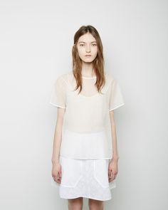 Carven / Organza Jacquard Top Carven / Lace A-Line Skirt