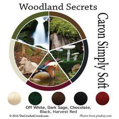 Caron Simply Soft Woodland Secrets Color Combinations