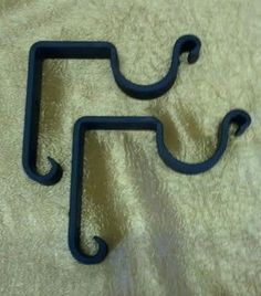 SB208 Rustic Hand Forged Iron Drapery Rod Brackets by AdyEscalante