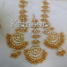 Love this versatile ghungroo and stone set by Kainoor Kreations.