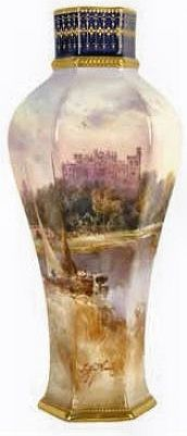 A Doulton vase hand-painted by John Hugh Plant (act. 1902 - 1920),