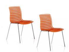 "TWO CHAIRS ""Moiré"" orange - Altek Italia Design s.r.l."