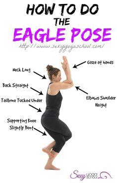 How To Do The Eagle Pose ❤ www.SexyYogaSchool.com ❤ #yogi #yoga #sexyyoga #yogapose