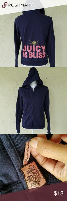 Juicy Couture Hoodie Gently used; Slighty faded; in good condition; no stains; no rips Juicy Couture Tops Sweatshirts & Hoodies