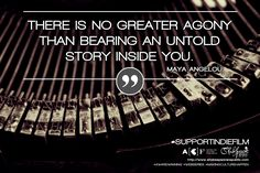 """There is no greater agony than bearing an untold story inside you"" - Maya Angelou  Do you #SupportIndieFilm?  Help us achieve our target: https://australianculturalfund.org.au/projects/shakespeare-republic-the-next-stage/   #mayaangelou #independentfilm #webseries #quotes #crowdfunding #femaledirector #womeninfilm #MakingCultureHappen #fundraising #funding #Melbourne #Victoria #Australia #Shakespeare #shakespearelives #lovethebard"