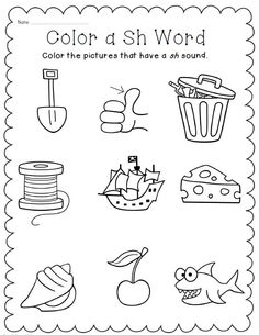 Digraphs ch sh th NO PREP word work printables! $